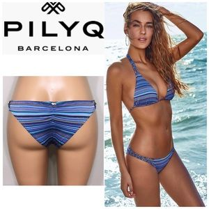 PILYQ Tahiti Braided Teeny bikini bottoms. NWT